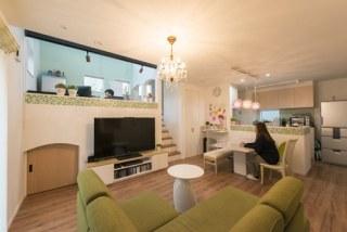 フレンチカントリーと多層空間®が融合した家