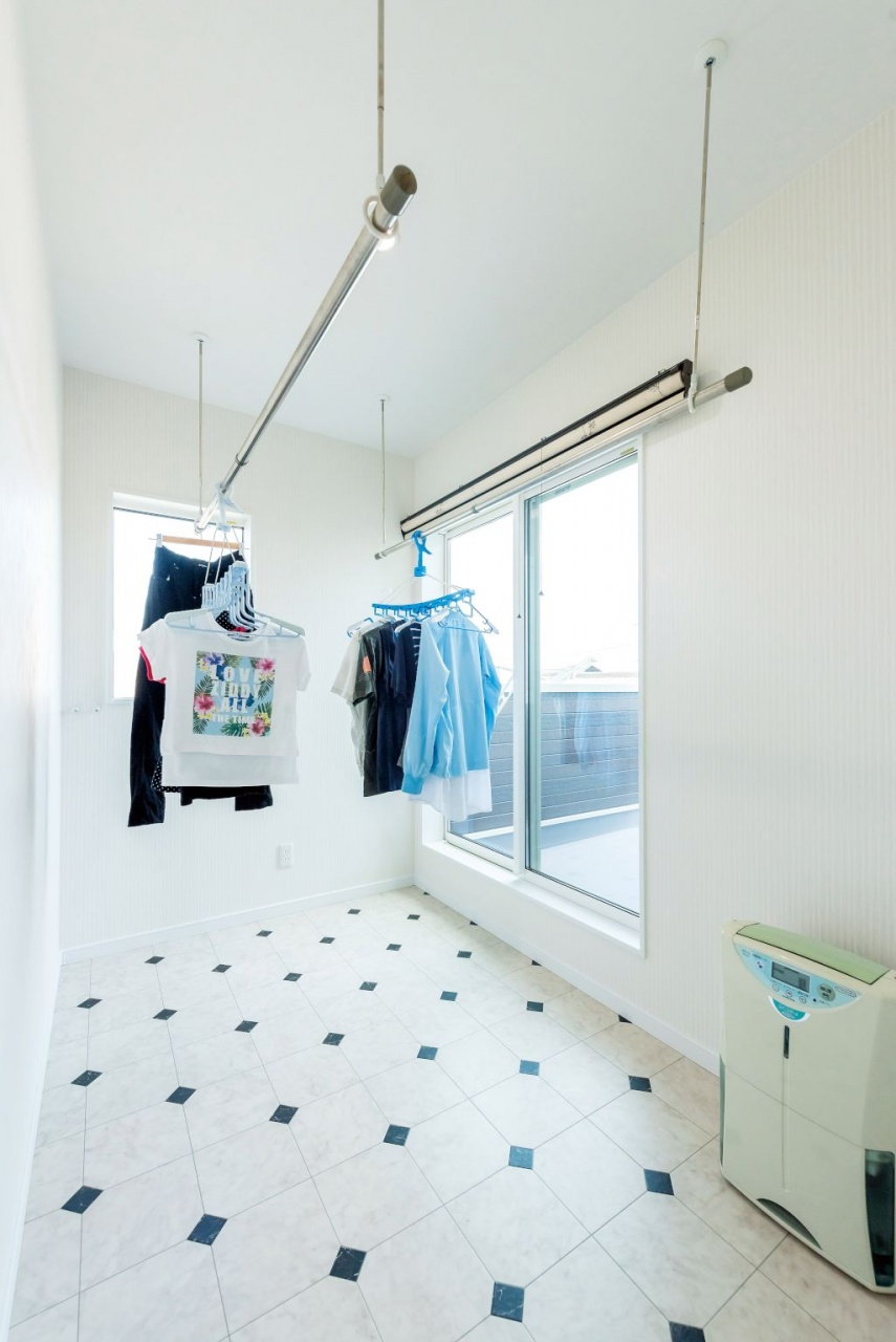 効率的な室内干し空間