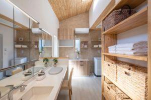 室内干し 部屋干し 花粉 三和建設 快乾空間 プレゼンハウス 洗面台