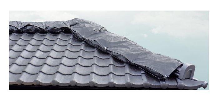 らく棟シート 鶴弥 被災屋根用の雨養生キット 自然災害
