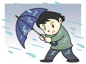 ゲリラ豪雨 傘を壊さない 傘の骨がサビ  強度