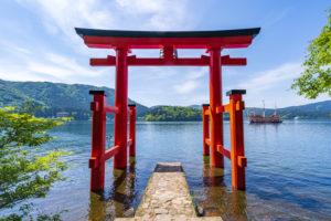 箱根神社 鳥居 行き方 インスタ映え 天気