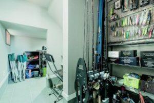 半地下収納 収納スペース 趣味部屋 釣り部屋 釣り
