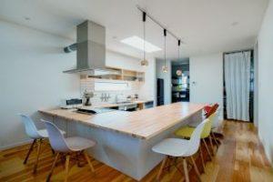 カフェ風キッチン カウンターキッチン 造作キッチン コの字型キッチン 施工事例 家づくり