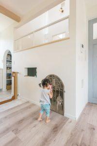 住宅施工事例 愛犬専用 ペット専用スペース 中二階ロフト ペットと暮らせる家